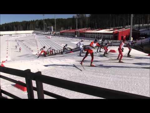 Финал спартакиады учащихся России по лыжным гонкам. Масс-старт. Юноши.
