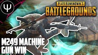 PLAYERUNKNOWN'S BATTLEGROUNDS — M249 Machine Gun Win Gameplay!