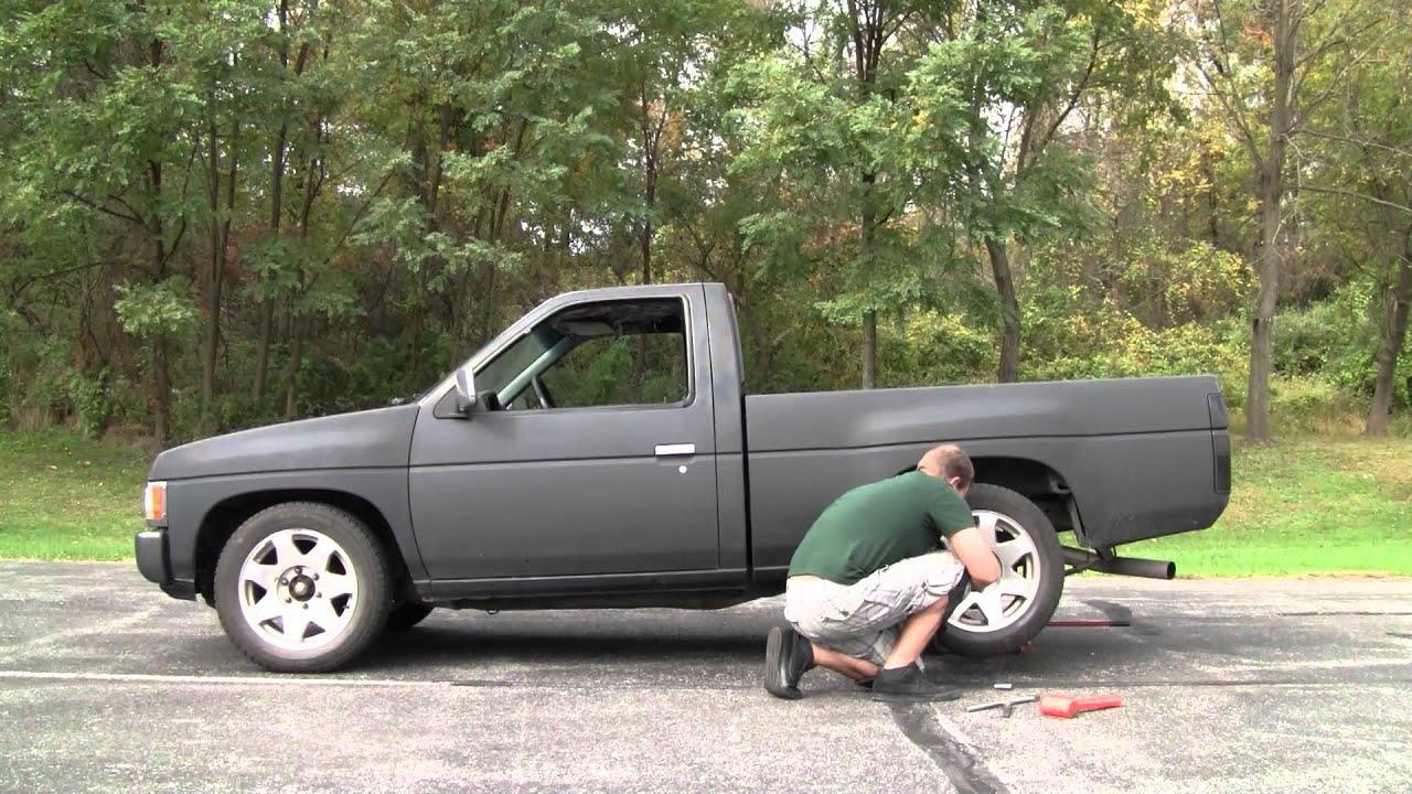 Chevy Truck Wheels >> Nissan D21 Wheel Change - YouTube
