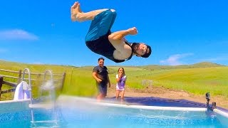 TRAMPOLINE POOL PARTY!