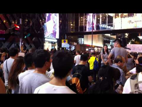 Hong Kong Protest Day 6 - Tsim Sha Tsui Kowloon Oct 1 2014