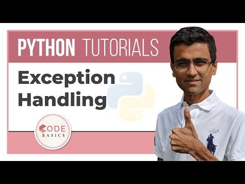 Python Tutorial  - 16. Exception Handling