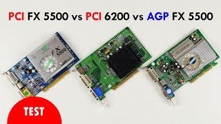 PCI FX 5500 vs PCI 6200 vs AGP 5500