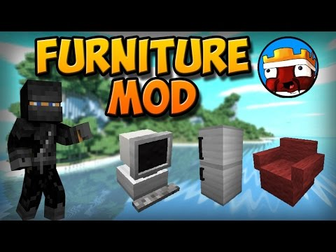 Minecraft FURNITURE MOD SHOWCASE COMPUTER TV COUCH SHOWER MORE