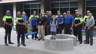 Two Dozen Police Officers Escort Siblings On First Day of School After Dad Died