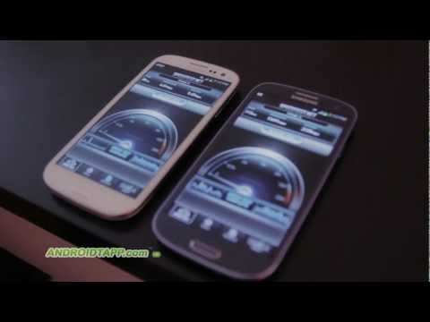 4G Speed Test (LTE vs HSPA+ or AT&T vs T Mobile) on Samsung Galaxy S3