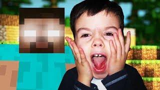 8 Year Old TROLLED in Minecraft (Herobrine)