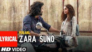 LYRICAL:Zara Suno   Malaal   Sharmin Segal   Meezaan   Rutvik Talashilkar, Aanandi Joshi  Shail Hada