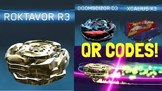 GOLD ROKTAVOR R3 AND BLACK DOOMSCIZOR D3 QR CODES! Beyblade Burst App! 5.2 MB