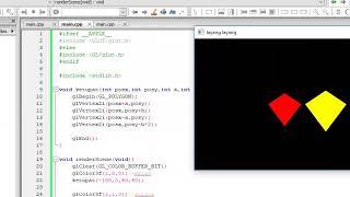 [modul 2] objek 2D (ketupat, layang-layang, lingkaran).