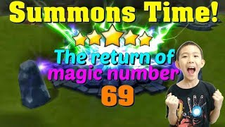 Summoners War - Another AWESOME summons session! Magic number 69 strikes again