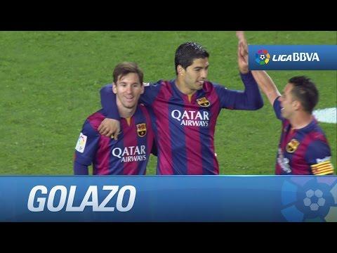 Golazo de Suárez (2-0) en el FC Barcelona - UD Almería