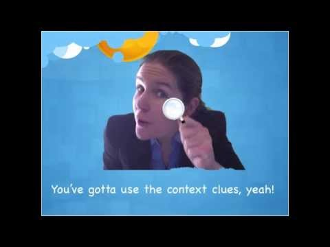 Context Clues Song - Lyrics on Screen