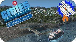 Cities Skylines Gameplay: ISLAND FERRY ROUTE! Cities: Skylines Mods MASS TRANSIT DLC Part 7