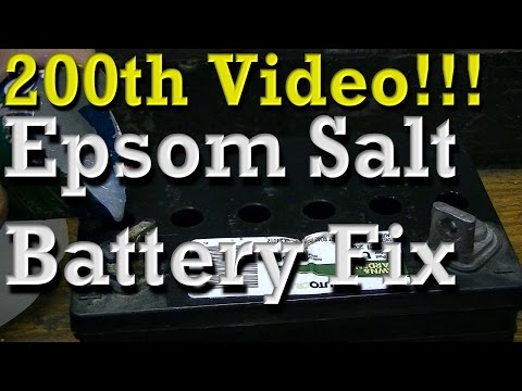 200th Video!!!   Fixing / Reviving Batteries With Epsom Salt