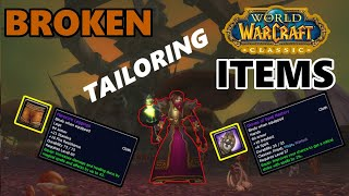 Classic WoW Broken Tailoring Items