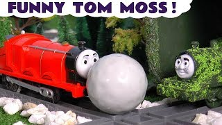 Thomas and Friends funny Tom Moss Prank Toy Stories for kids and children TT4U