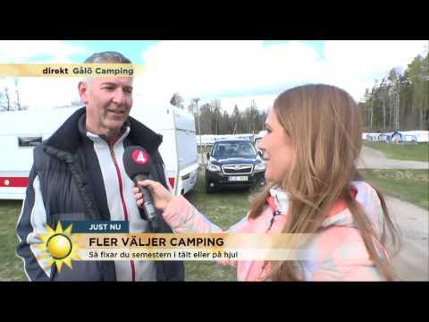 Därför älskar svenskar att campa - Maria hälsar på i husbilen! - Nyhetsmorgon (TV4)