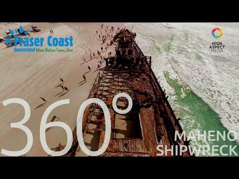 Australia's Nature Coast in 360 VR | Maheno Shipwreck, Fraser Island QLD