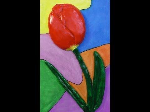 Тюльпаны из соленого теста своими руками пошаговая инструкция 21