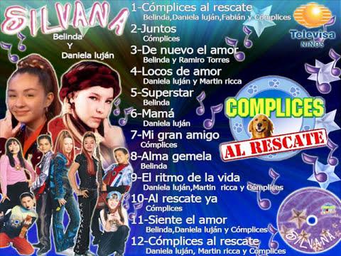 Cómplices Al Rescate disco SILVANA Belinda y Daniela lujan