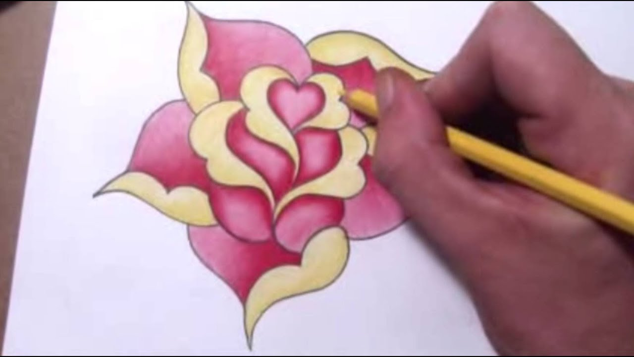 how to draw a heart design