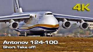 Antonov 124-100 Short Take Off!   [4K]