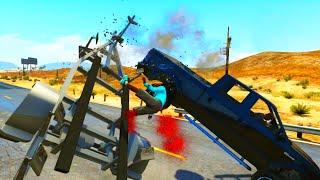 GTA V Unbelievable Crashes/Falls - Episode 21