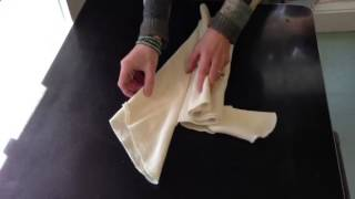 Origami Fold For Flat Diapers
