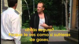Matthiew Perry and Bruce Willis hate mayonnaise (spanish subs) odian la mayonesa