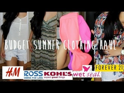 Budget Summer Clothing Haul (H&M, Forever21, Ross, Kohls & Target)
