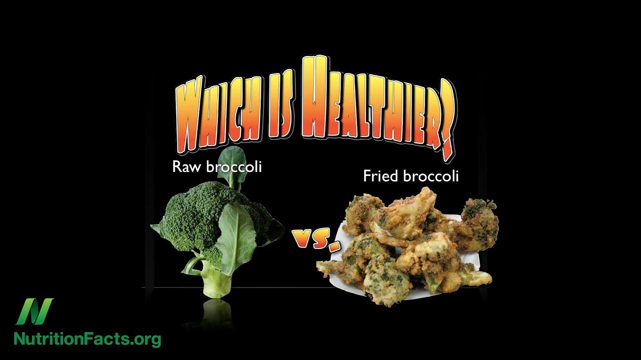 Raw vs. Cooked Broccoli