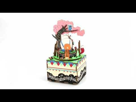 Robotime 3D Wooden Puzzle Music Box-Forest Concert AM404