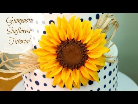 How to Make a Gumpaste Sunflower