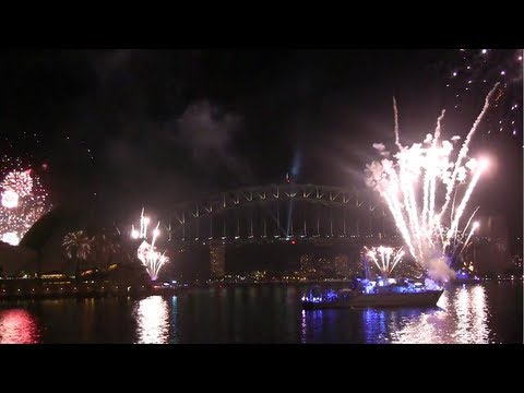 Fireworks Display - International Fleet Review Sydney 2013