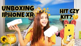 iPhone XR - unboxing 💛📱 / samosiaa