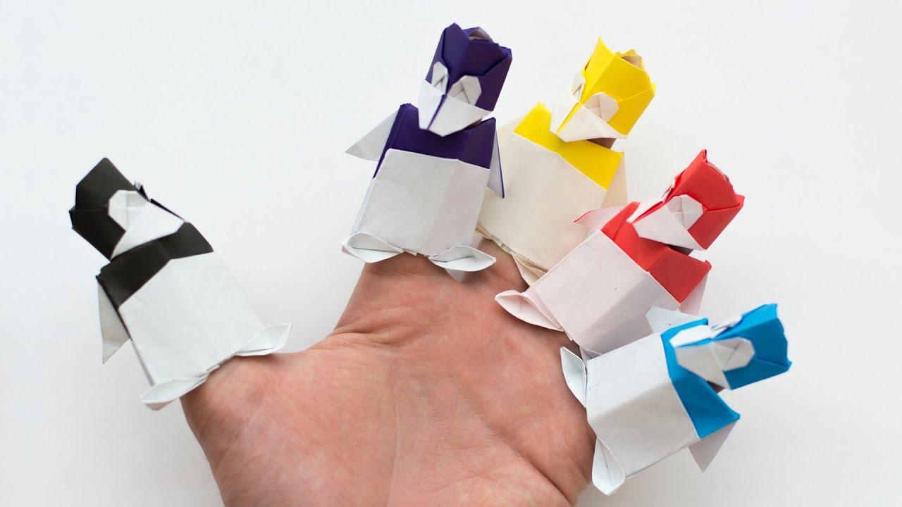 Как сделать человечка оригами из бумаги