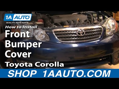 How To Install Replace Front Bumper Cover Toyota Corolla 03-08 1AAuto.com