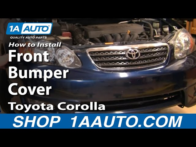 How To Install Replace Front Bumper Cover Toyota Corolla ...