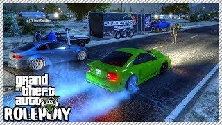 GTA 5 ROLEPLAY - Police Shut Down Street Drag Racing   Ep. 358 Civ