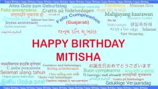 Mitisha like Miteesha   Languages Idiomas - Happy Birthday