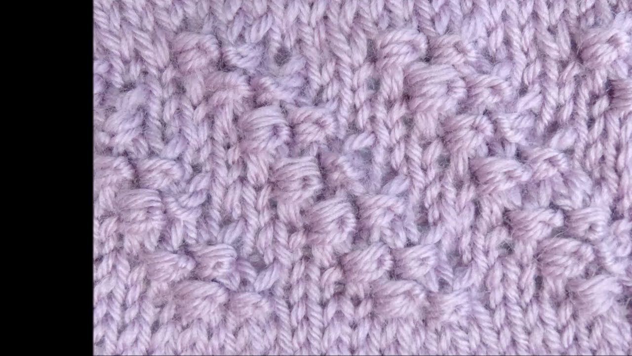 Knitting Diagonal Knot Stitch : Strickmuster Diagonale Knoten mit Wickelmaschen - Knitting Diagonal Knots wit...