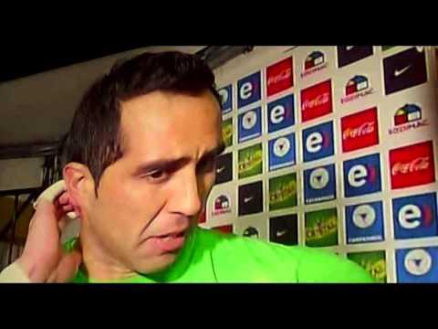 Entrevista A Claudio Bravo post partido con brasil