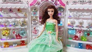 Princess Barbie Belle Jewelry Castle Accessory Dress बार्बी आभूषण कैसल पोशाक