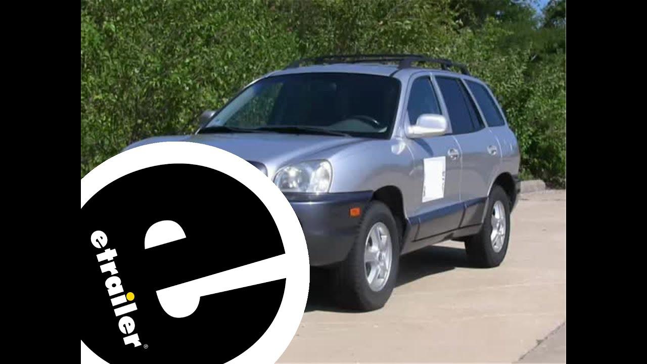 Trailer Hitch Installation 2003 Hyundai Santa Fe Youtube