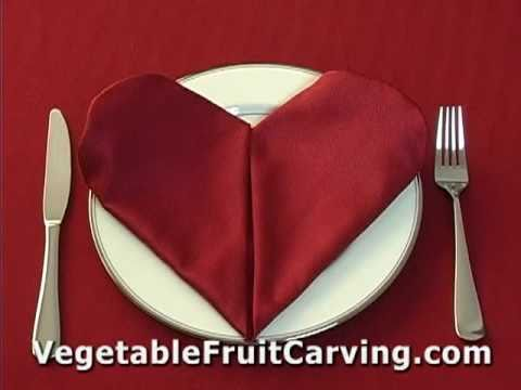 Heart napkin fold youtube