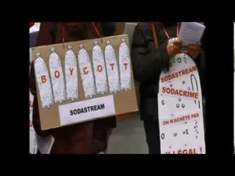 Boycott Sodastream! - Paris. 16 November 2013