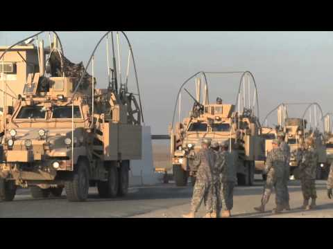 IRAQ - KUWAIT BORDER!  Last U.S. Troops Cross Border, Leave Iraq!