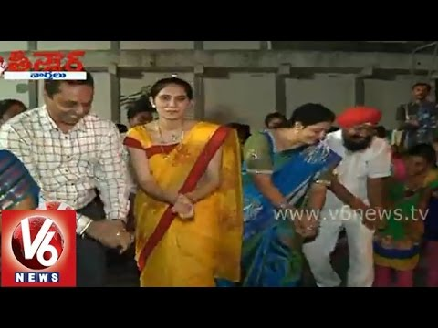 Political leaders participation in Bathukamma celebrations -...
