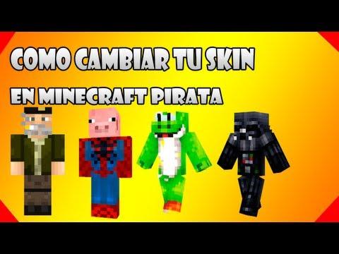 Como poner skins a minecraft pirata sin programas! [Rápido y Sencillo] + Pack de Skins